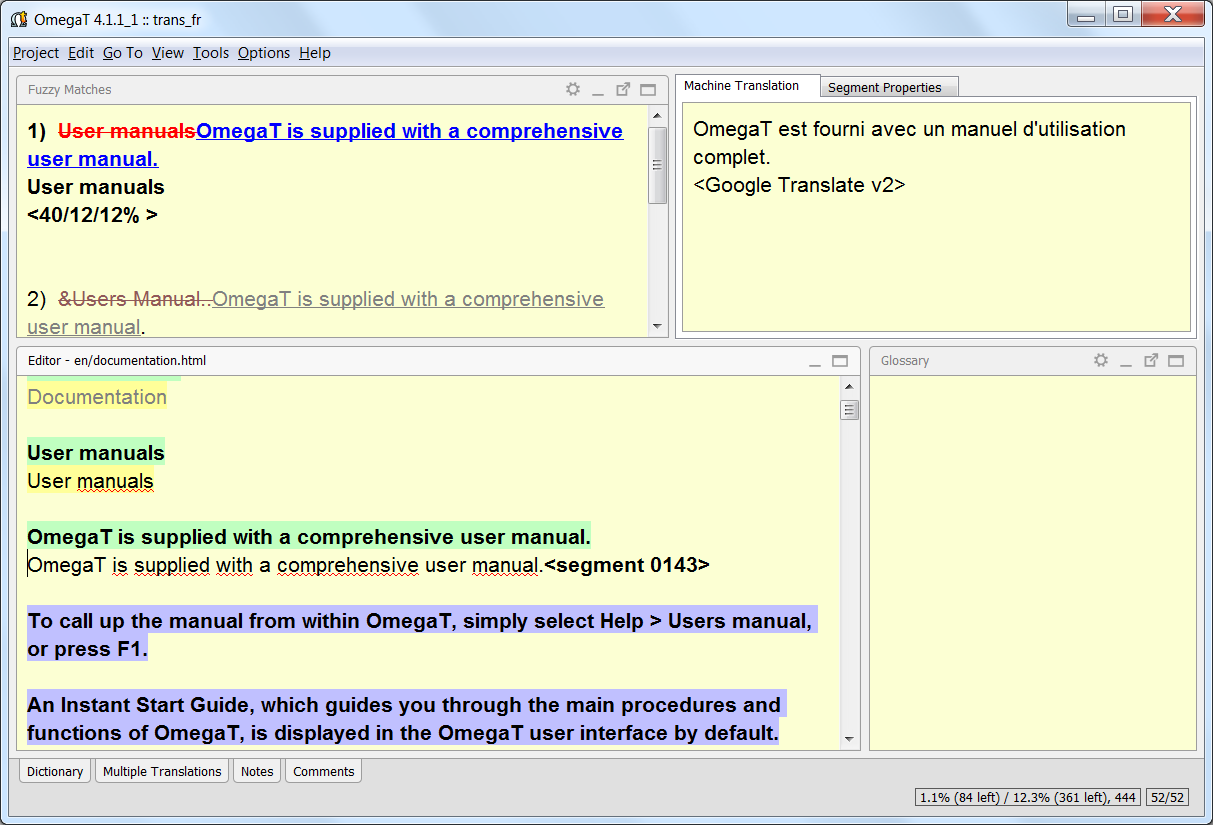 OmegaT - The Free Translation Memory Tool - OmegaT